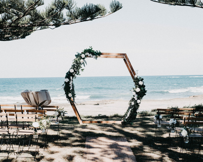 Wedding ceremony styling package sunshine coast
