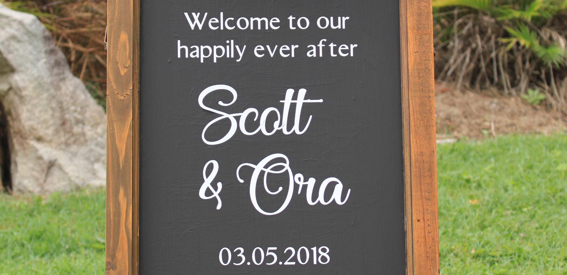 wedding welcome sign sunshine coast