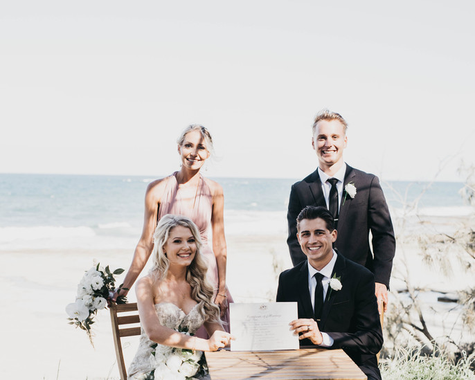 wedding ceremony styling sunshine coast