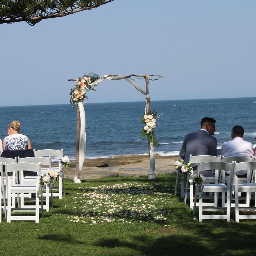 Wedding Shelly Beach, Caloundra