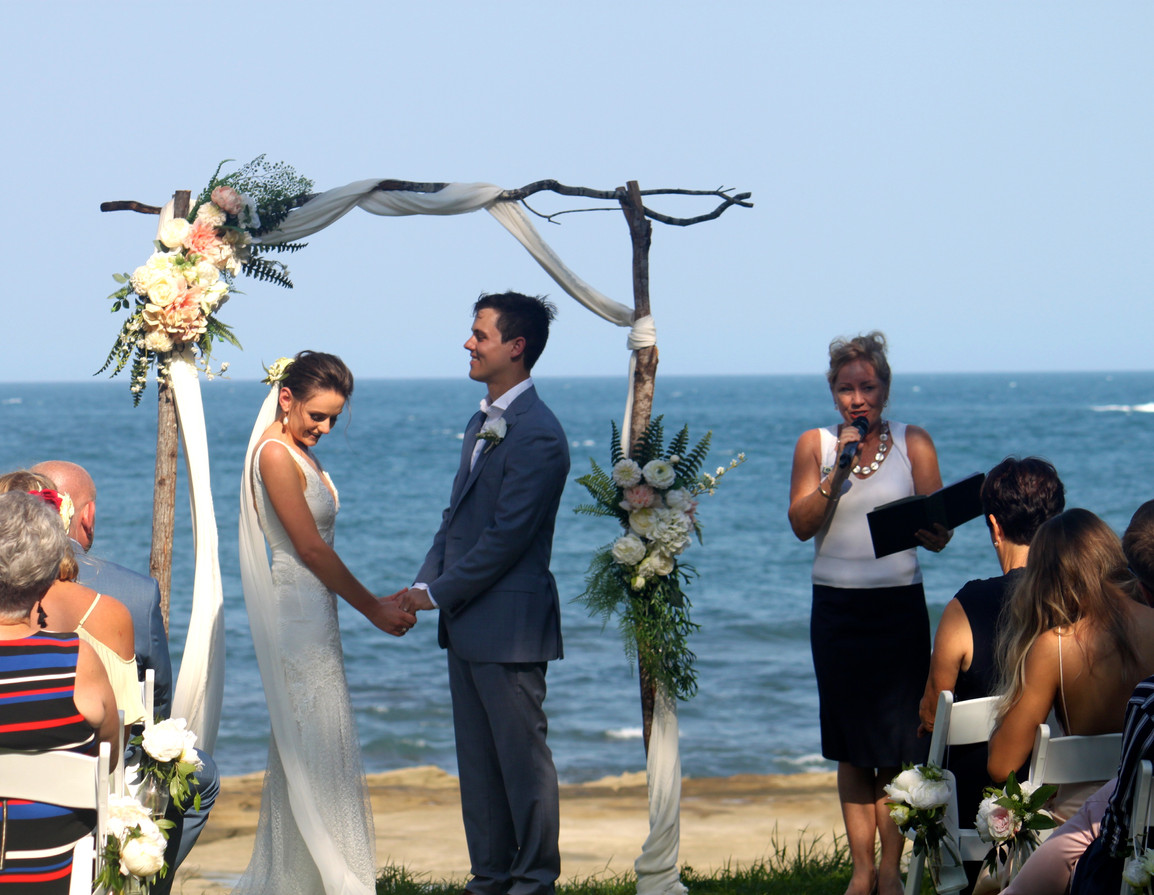 Natural beauty wedding ceremony