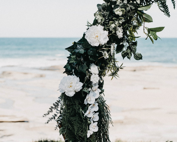 Wedding arbour flowers