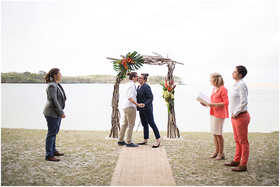 Driftwood tropics wedding arbour