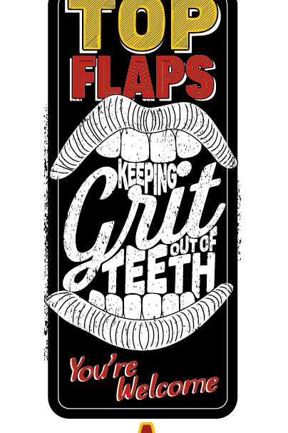 TopFlap : Keeping Grit Out Of Teeth