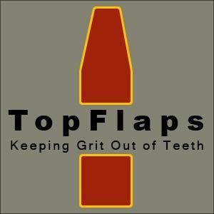 TopFlaps Logo custom bicycle mud flaps