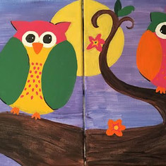 Partner Painting Owls