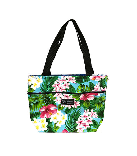 New Hibiscus Tote Bag w/Zipper S