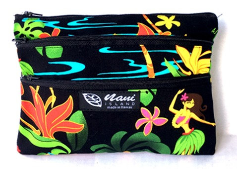Hawaiian Hula Girl 3 Zipper Pouch