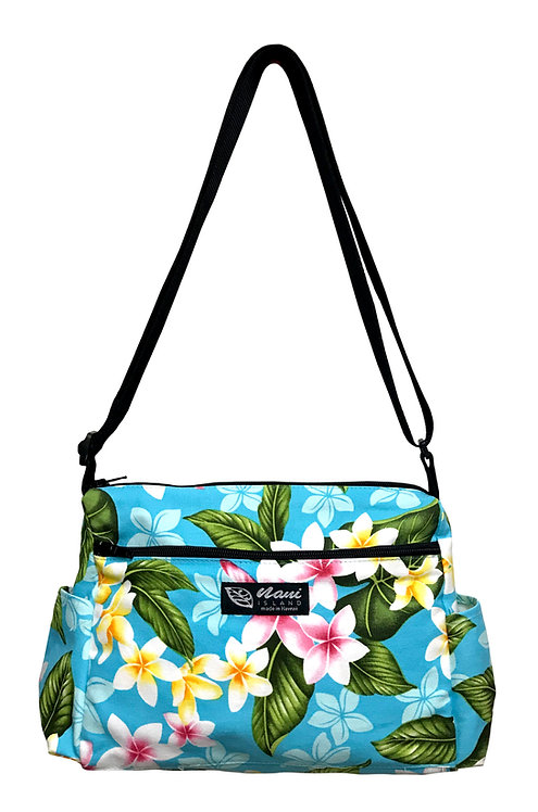New Plumeria Ladies Hand Bag w/Adjustable Strap