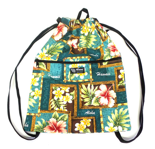 Box of Plumeria Drawstring Back Pack