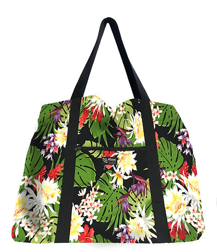 Night Blooming Bouquet Shopping Bag w/Zipper