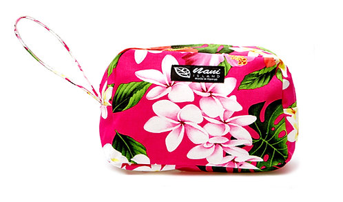 Luxury Hibiscus Round Cosmetic Pouch