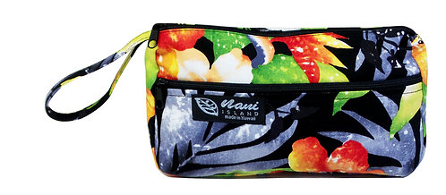 Watermark Floral Wristlet Pouch