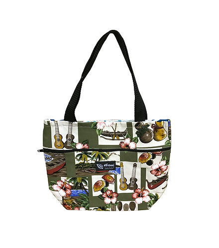 Hawaiian Dance Tote Bag w/Zipper