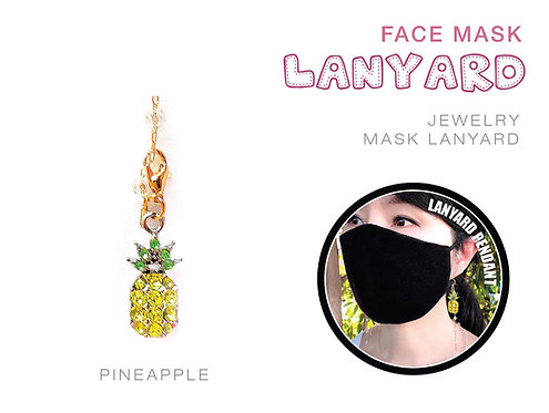 Pineapple Jewelry Mask Lanyard