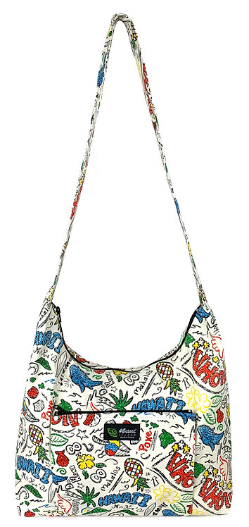 Hawaiian Fun Sling Bag w/Zipper
