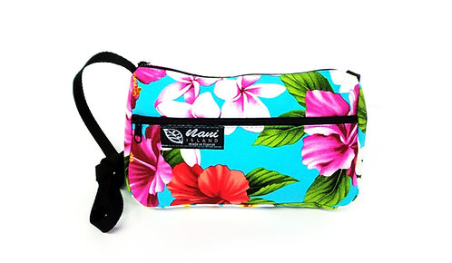 Luxury Hibiscus Ladies Hand Bag w/Long Strap