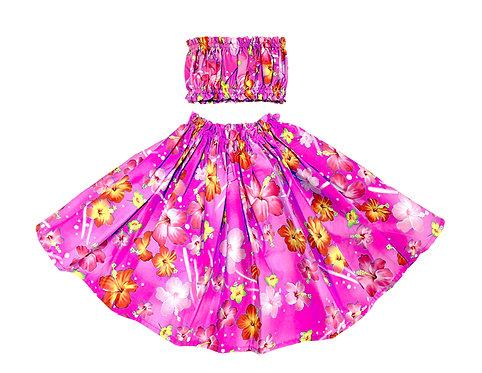 Sweet Spring Flower Keiki Pa'u Hula skirt Set