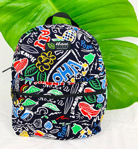 Hawaiian Fun Back Pack w/Zipper