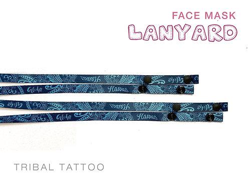 Tribal Tattoo Mask Lanyard