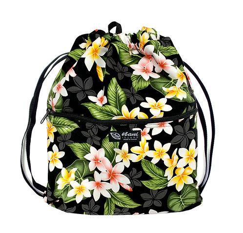 New Plumeria Drawstring Back Bag