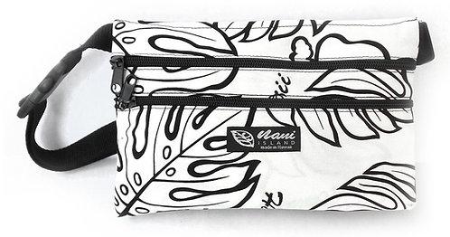 Monstera Lover 3 Zipper Waist Bag L