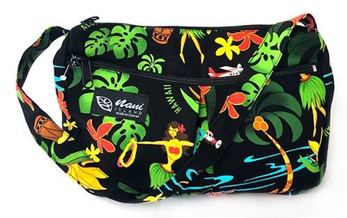 Hawaiian Hula Girl Two Pocket Hand Bag