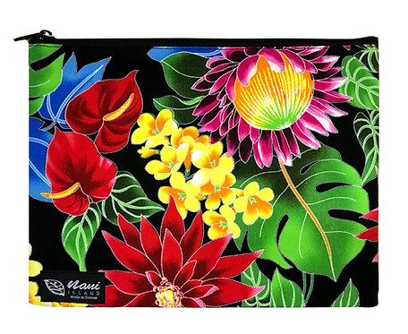 Hawaiian Garden Clutch Bag w/Lining