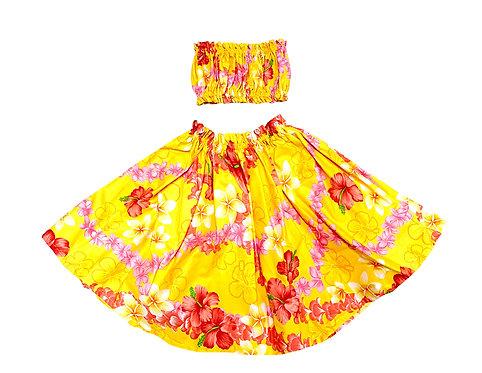 Elegant Lei Keiki Pa'u Hula skirt Set