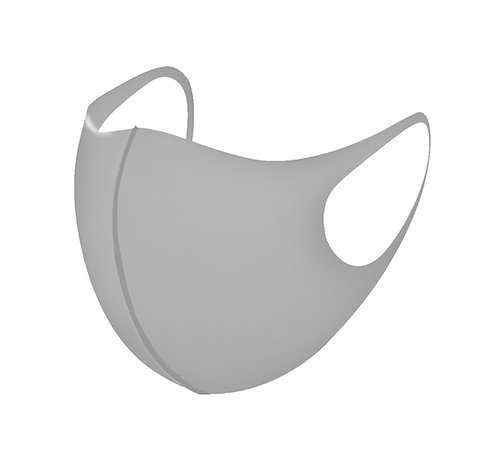 Sliver 3D Aerosilver Fashion Mask Plain