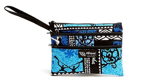 Honu Box Cosmetic 3 Zipper Pouch w/Strap