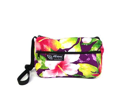 Watermark Floral Ladies Hand Bag w/Long Strap