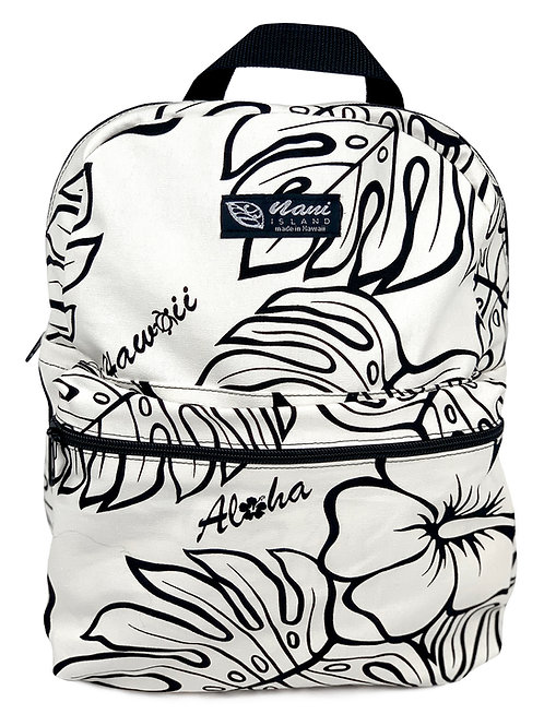 Monstera Lover Back Pack w/Zipper
