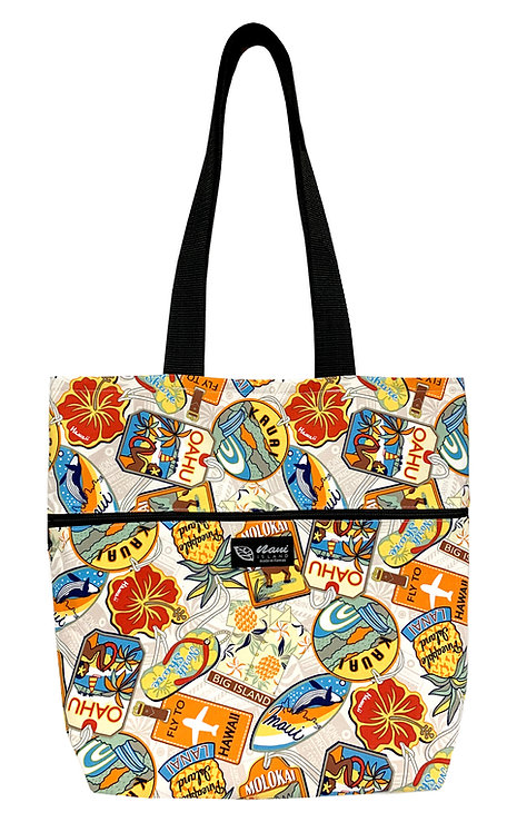 Aloha Tag Reversible Tote Bag