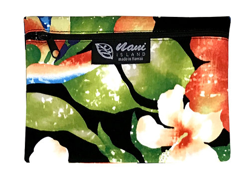 Watermark Floral Cosmetic Pouch