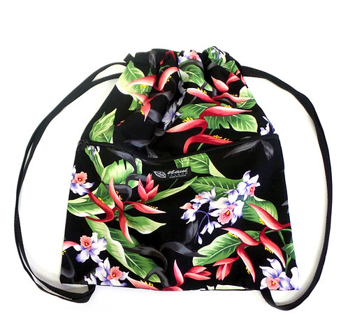 Hanging Heliconia Drawstring Back Pack