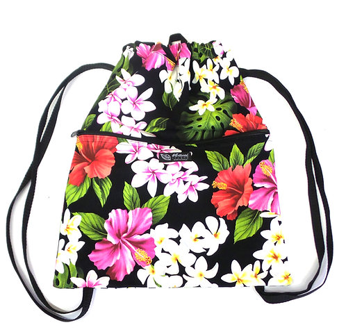 Luxury Hibiscus Drawstring Back Pack