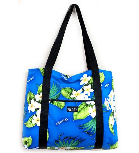 Plumeria Palm Shopping Bag w/Zipper