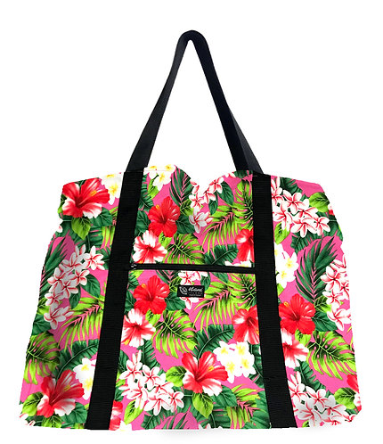 New Hibiscus Shopping Bag w/Zipper