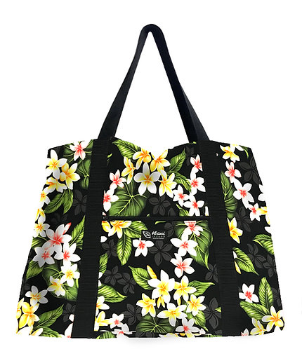 Falling Plumeria Shopping Bag w/Zipper