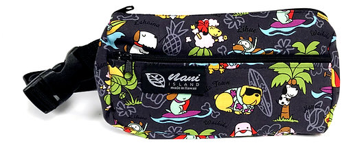 Doggie in Paradise Round Waist Bag M