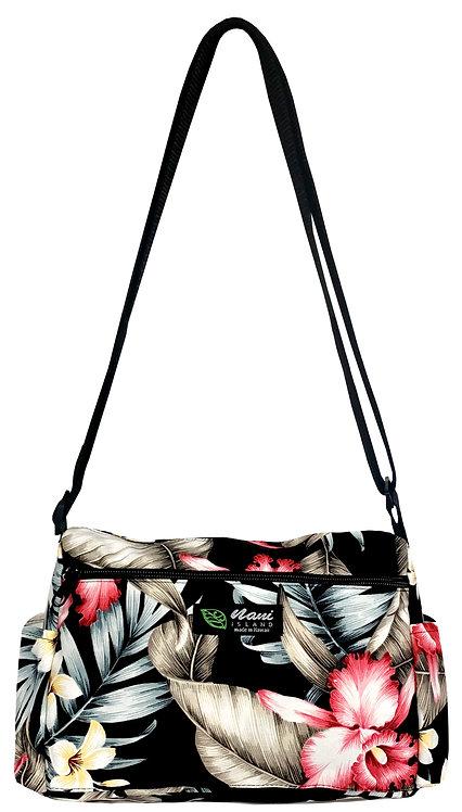 Orchid Garden Ladies Hand Bag w/Adjustable Strap