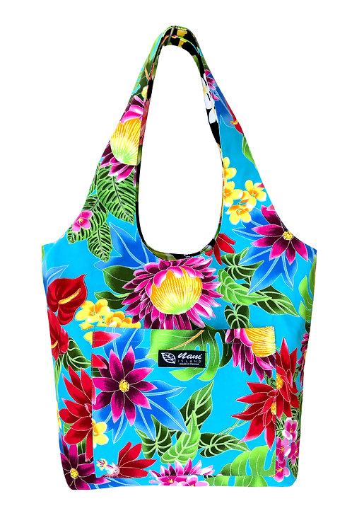 Hawaiian Garden Reversible Hobo Bag S