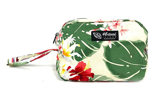 Night Blooming Bouquet Round Cosmetic Pouch
