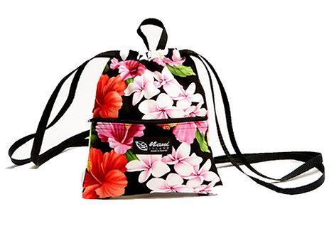 Luxury Hibiscus Drawstring Back Pack S