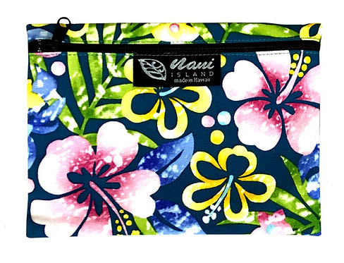 Groovy Hibiscus Cosmetic Pouch