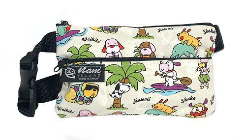 Doggie in Paradise Waist Bag S