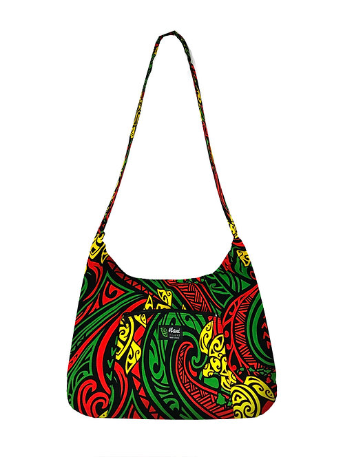 Rasta Honu Sling Bag w/Zipper