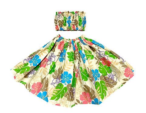 Tropical Blossom Keiki Pa'u Hula skirt Set