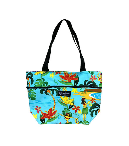 Hawaiian Hula Girl Reversible Tote S
